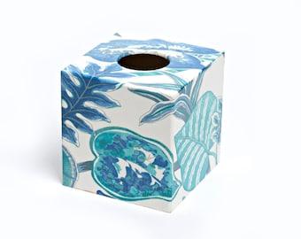 Exotic Blue Tissue Box Cover