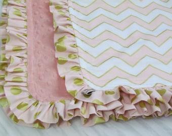 "Minky baby blanket- 33"" x 39""- Modern minky blanket- baby blanket- toddler blanket- crib minky blanket- baby shower gift - crib blanket"