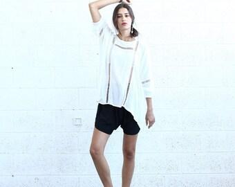 Summer Sale Breeze Tunic-White lace tunic.