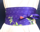 Upcycled vintage kimono Obi Belt **free shipping**