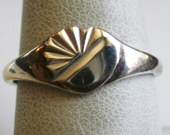 Sterling Silver Band Ring-Size 7 1/4