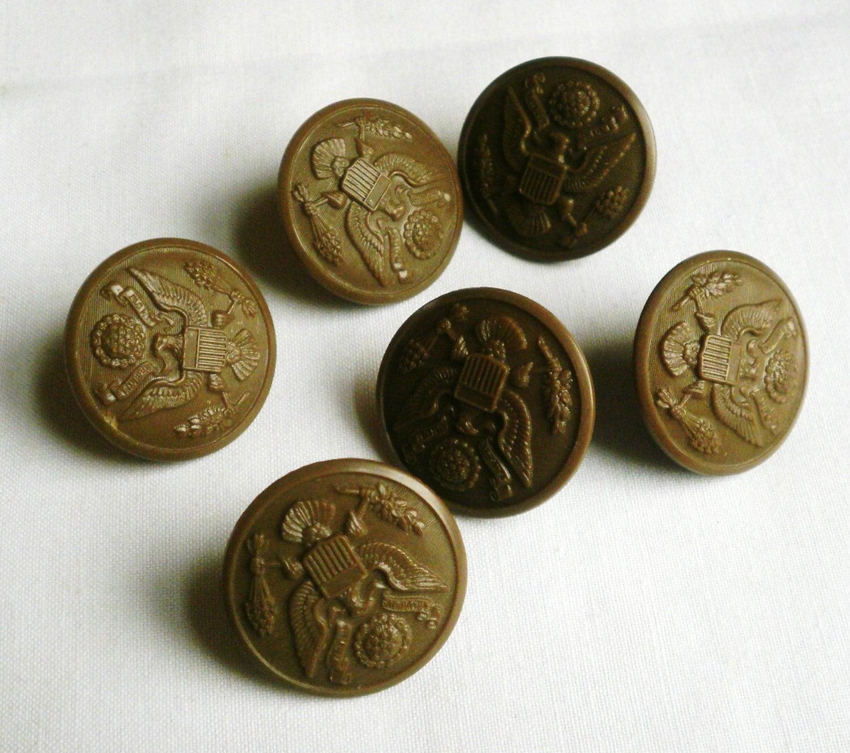 Vintage Military Button 8