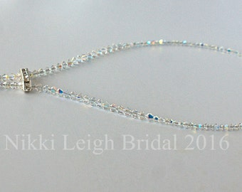 Swarovski Crystal Necklace with Diamante spacer and teardrop finish