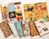 Wildland Fat Quarter Bundle, 8 Pieces, Miriam Bos, 100% GOTS-Certified Organic Cotton Poplin, Birch Fabrics