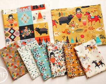 Wildland Half Yard Bundle, 8 Pieces, Miriam Bos, 100% GOTS-Certified Organic Cotton Poplin, Birch Fabrics