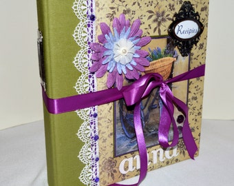 Custom Recipe Book - Custom Cookbook - Personalized Recipe Book - Pick your design