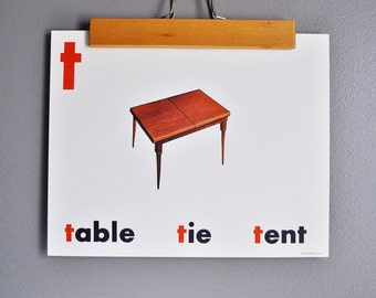 Mid-Century Flash Card Poster - TABLE