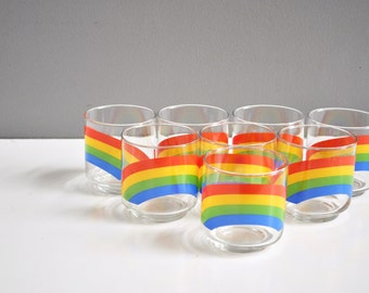Vintage Libbey Glassware Rainbow Rocks Glasses