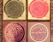 New Orleans Watermeter Coasters - Set of Four