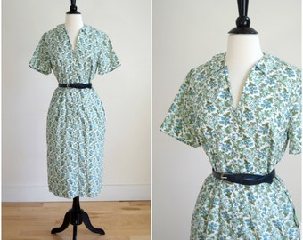 Vintage McMullen blue rasberry day dress / NWT