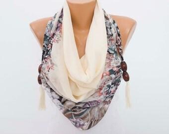 CLEARANCE SALE-Tassel scarf  ,fringed triangel scarf ,woman scarf,