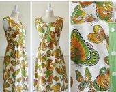 SALE Vintage Novelty Print Dress --> Vintage Dress --> 1960s Dress  --> 60s Dress  --> 1960 Dress --> 1960s Cotton Dress With Pockets
