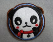 """Black and White Embroidered Panda Bear Applique ... Iron On ... 2 1/2"""" x 2 1/2"""" ... 1 ea ... Item No. L278"""