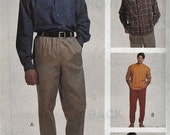 """CLEARANCE Men's Wardrobe - Button Down Shirt, T-Shirt, Pants and Shorts - Size XXXL Chest 54-56"""" - Uncut - Sewing Pattern McCall's 6807"""