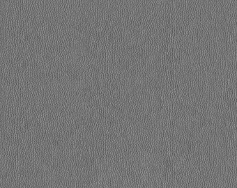 Soft metallic Faux Leather with slight shine.  Light, Stylish Faux Leather Upholstery Fabric - Color:  Frost Silver - per yard