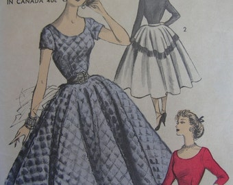 Fabulous Vintage 50s Misses FULL CIRCLE STATEMENT Advance Dress Pattern