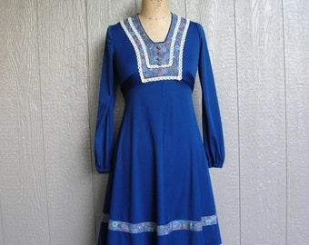 Vintage 60s BEAT THE BLUES Dress