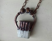 Selenite and Tigers Eye Necklace