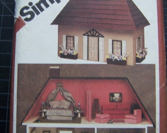 Vintage Simplicity Dollhouse and Furnishings Pattern #9821