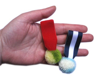 Pom Pom Medals brooches