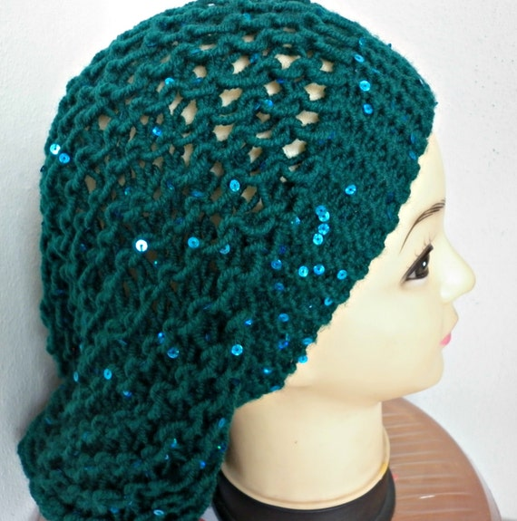 Emerald Green Slouchy Beanie Knit Hat,Winter Hat, Knit Beanie, Womens Hats, Chunky Knit Hat, Girl Gifts, Teen Gift Gift Ideas For Her