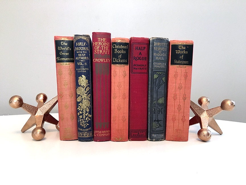 Antique hardcover book collection books for decoration for Antique books for decoration