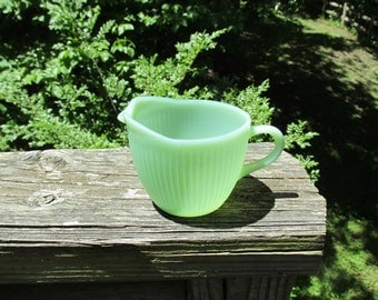 Jadeite Jane Ray creamer cream pitcher Jade-ite Jade Anchor Hocking 1946 to 1965