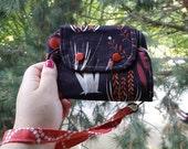 Wristlet purse wallet Cat Lady phone wallet zipper wallet