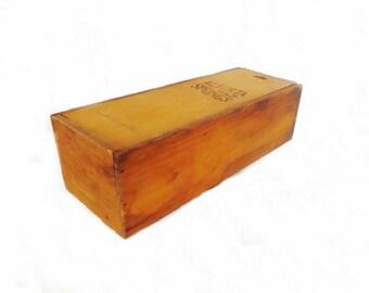 Vintage Alberta Springs Wooden Box, Alberta Springs Whiskey Box, Vintage Decor, Storage Box, Home Decor, Bar Decor, Advertising Box