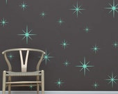 Twinkle Star Decals | Set of 28 | Removable Vinyl Retro Star Wall Decals | Trendy Home Decor | FREE SHIPPING