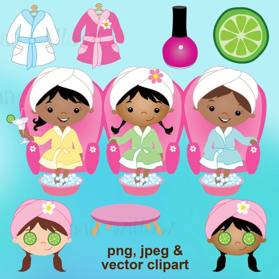 Pedicure Clipart: Spa Party Clipart Day Spa Clipart Clipart Bubbles By