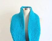 CROCHET SCARF Baby Blue Shawl ,denim,scarf,stole,bolero,collar,cowl,warm,winter,handmade,gift,lace,crochet,accessories,woman,necklace,