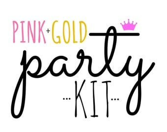 Pink and Gold Birthday Party Kit | Princess Party in a Box!