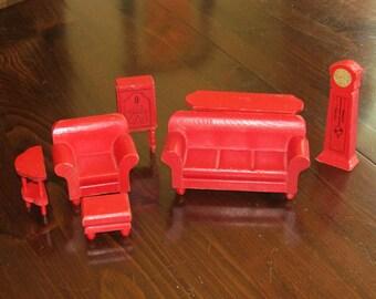Strombecker Doll House Furniture - Depression Era - 1931