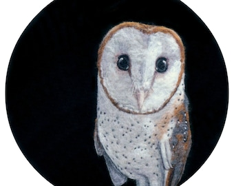 Barn Owl Art Print - High Quality Giclee Print - 8x10