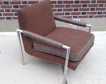 Mid Century Modern Upholstered Aluminum Chair