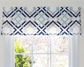 Window Valance & Window Treatments - Winston Fabric Print - 4 Color Options