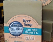 Manly Soap / Ain't Miss Behavin' Beer Soap Handcrafted 5 ounces Inglenook Soaps Brewery 85 Southern Style Pale Ale/ Manly soap