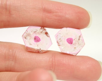 Pink Watermelon Tourmaline 14 x 13 mm Matched Slices (16.61 cts)