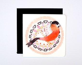 Mini Bullfinch Card