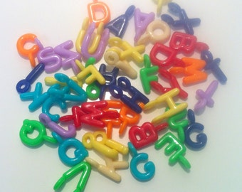 Clearance 100 Plastic Random Letter Charms