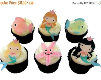 Sale Cake Cupcake Toppers 12 Edible Fairy By Incredibletoppers