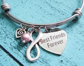 bff gift, best friend bracelet, friendship gift, bff bracelet, gift for best friend, sister gift, moving away gift, best friends forever