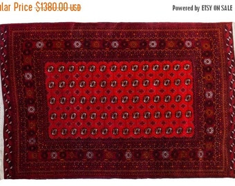 HAPPY SUMMER 10% OFF Discounted 6.5x10 Room Size Large Vintage Bokhara Rug