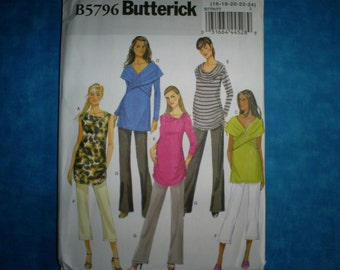 Maternity Butterick 5796 Misses Size 16-24. Fast and easy.