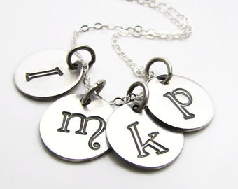 "Personalized Initial Necklace - Sterling Silver - Personalize Necklace -  Custom Sterling Collection - 16"", 18"" or 20"""