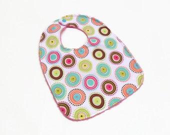 baby bib gender neutral bib baby girl bib baby boy bib circles and dots