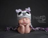 Owl Hat Baby Girl  Baby crochet hat Photography Prop Sizes Preemie, Newborn, 0-3 months, 3-6 months