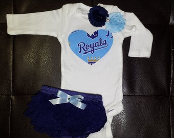 Kansas city royals baby etsy boutique kansas city royals onesie set negle Image collections