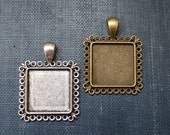 4 KITS to make your own Wedding Bouquet charms -Photo Pendants charms for family photo (includes everything you need including instructions)